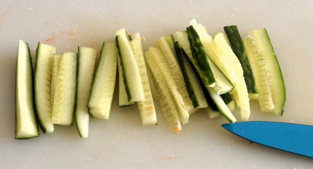 Concombre en bâtonnets