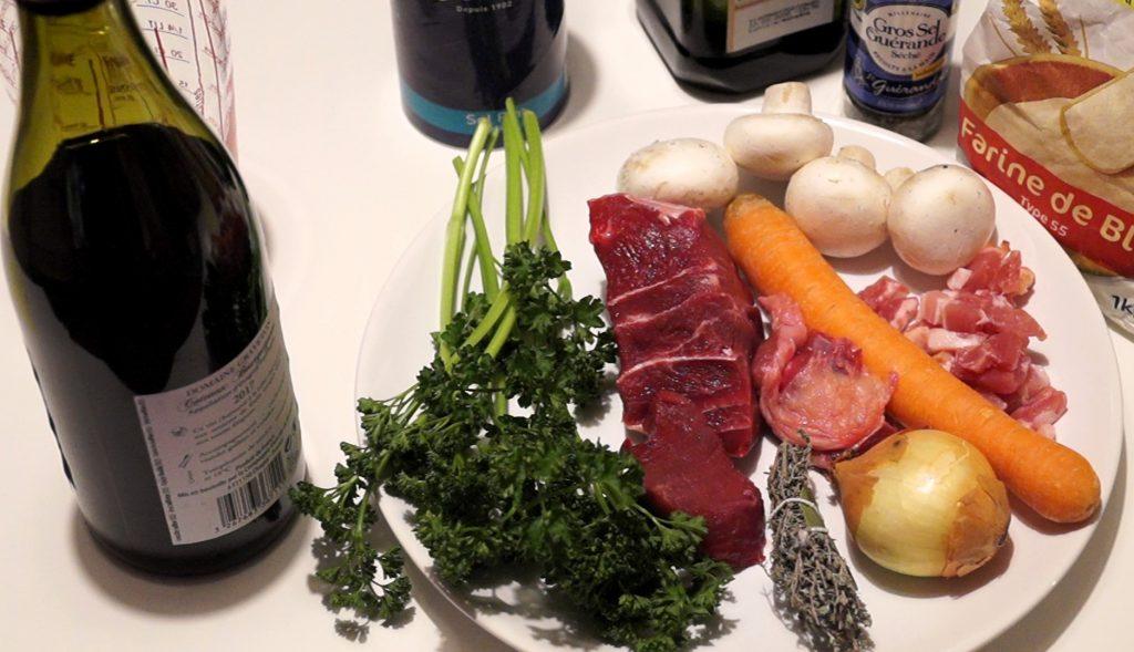 Ingrédients boeuf bourguignon