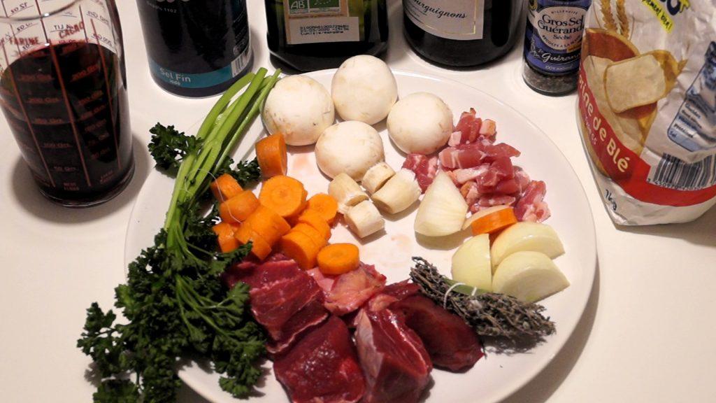 Ingrédients bourguignon