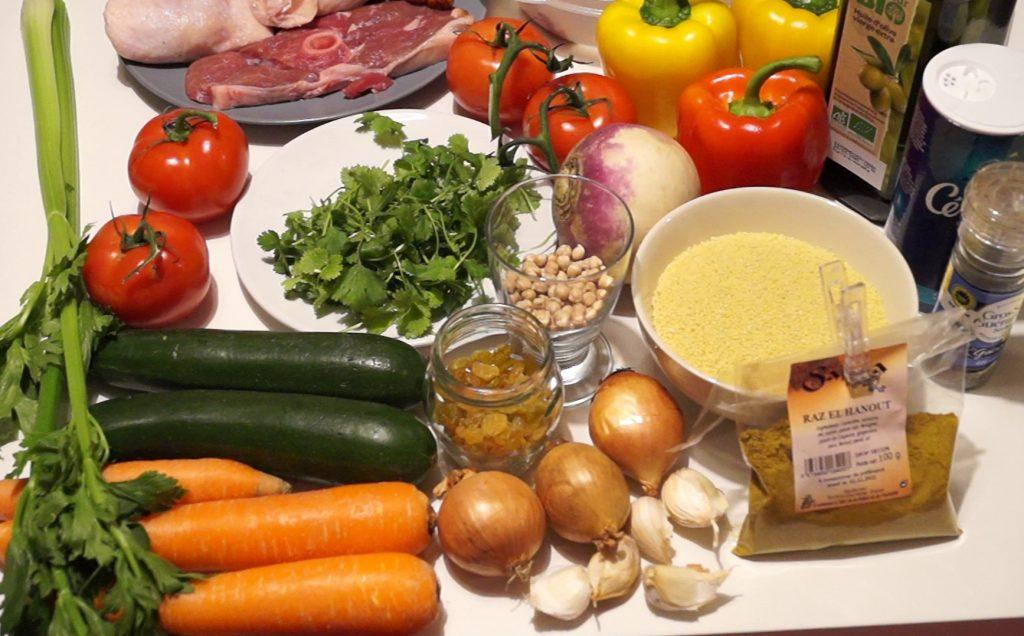 Ingrédients pour couscous