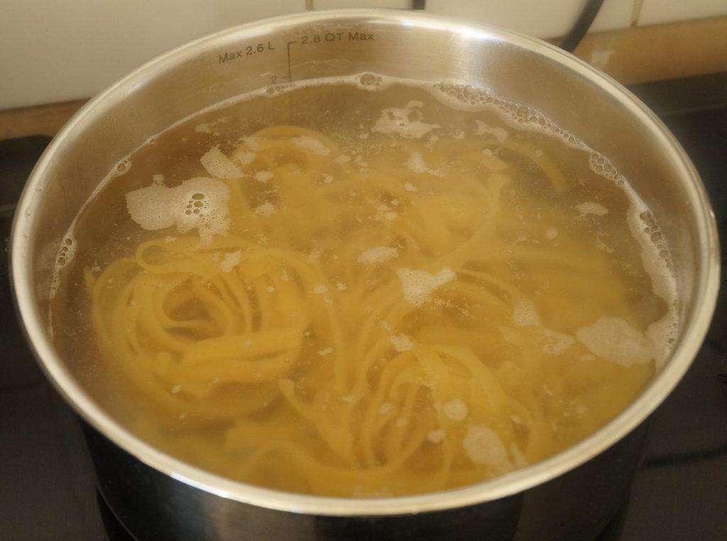 cuisson des tagliatelles