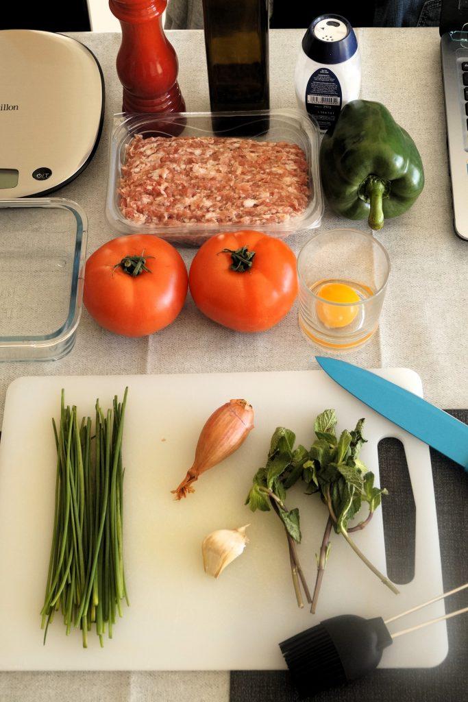Ingrédients tomates farcies