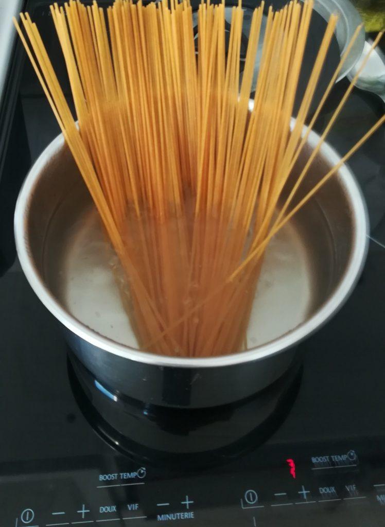 cuisson pâtes