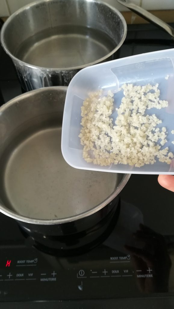 sel eau pâtes