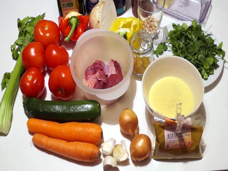Ingrédients couscous facile et rapide
