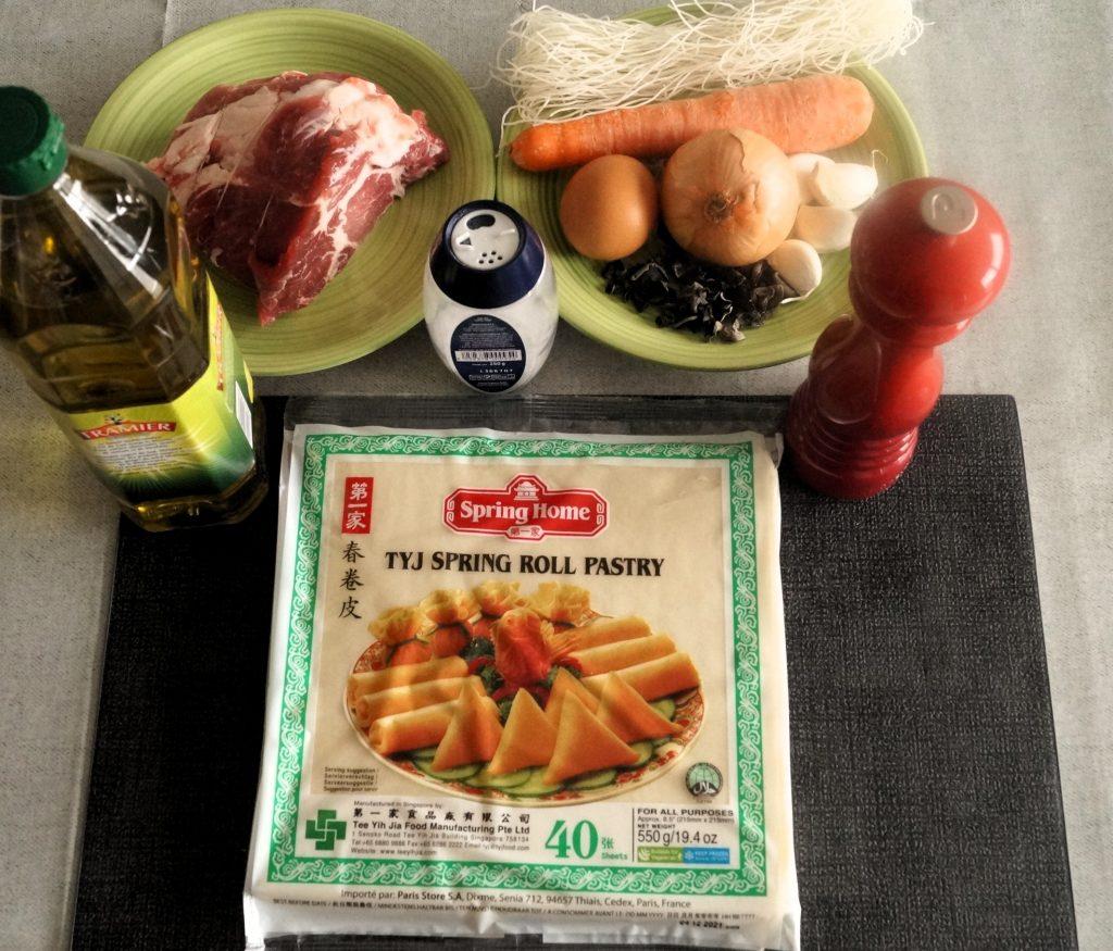 ingrédients pour nems porc