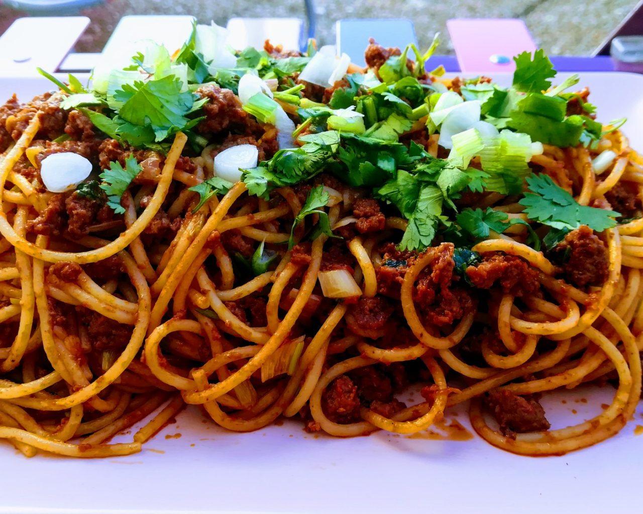 spaghettis bolognaises au concentré de tomates