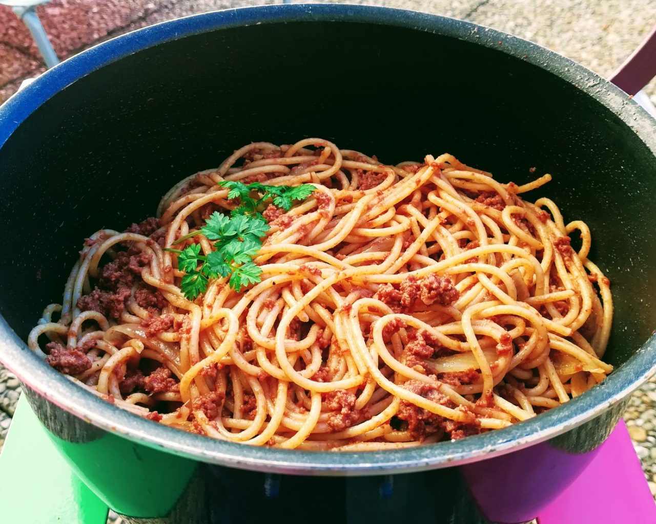spaghettis à la bolognaise maison