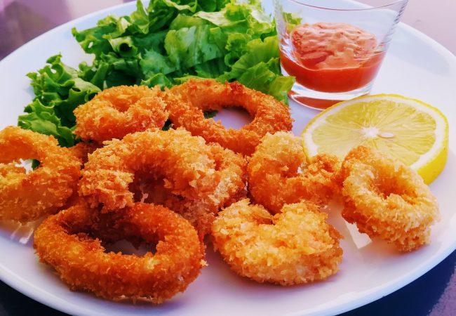 Beignets crevettes calamars croustillants