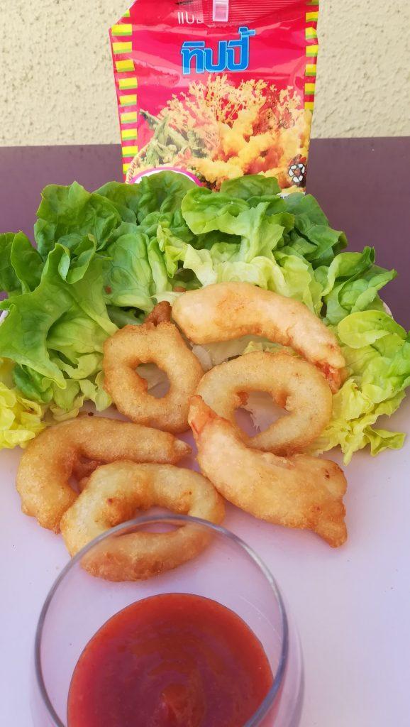 Beignets de calamars et de crevettes