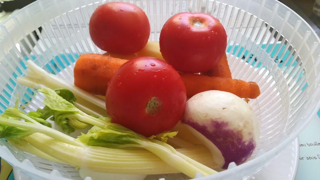 Ingrédients potage de légumes