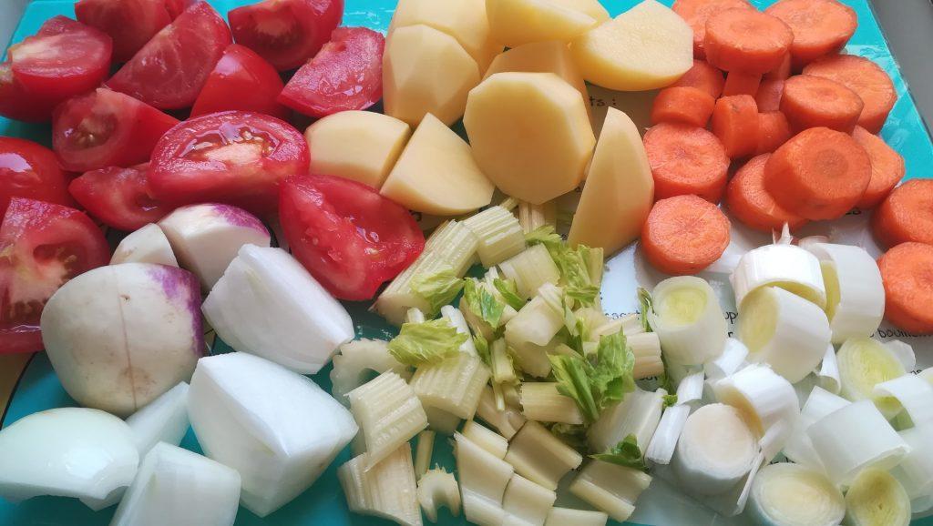 Légumes pour potage de légumes