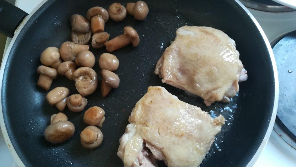 Poulet crème champignons