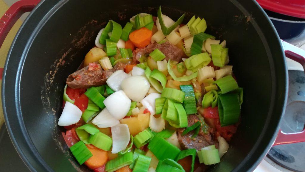 Soupe de légumes et viande