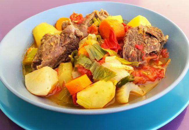 Soupe de légumes au boeuf