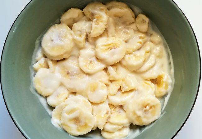 Recette de bananes à la crème