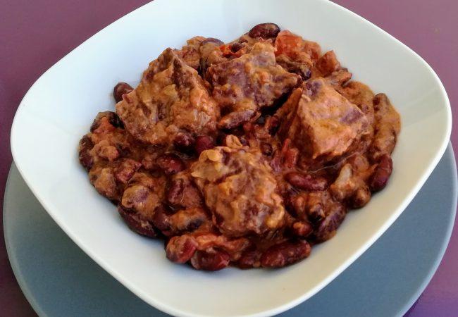 Haricots rouges à la viande et au coco