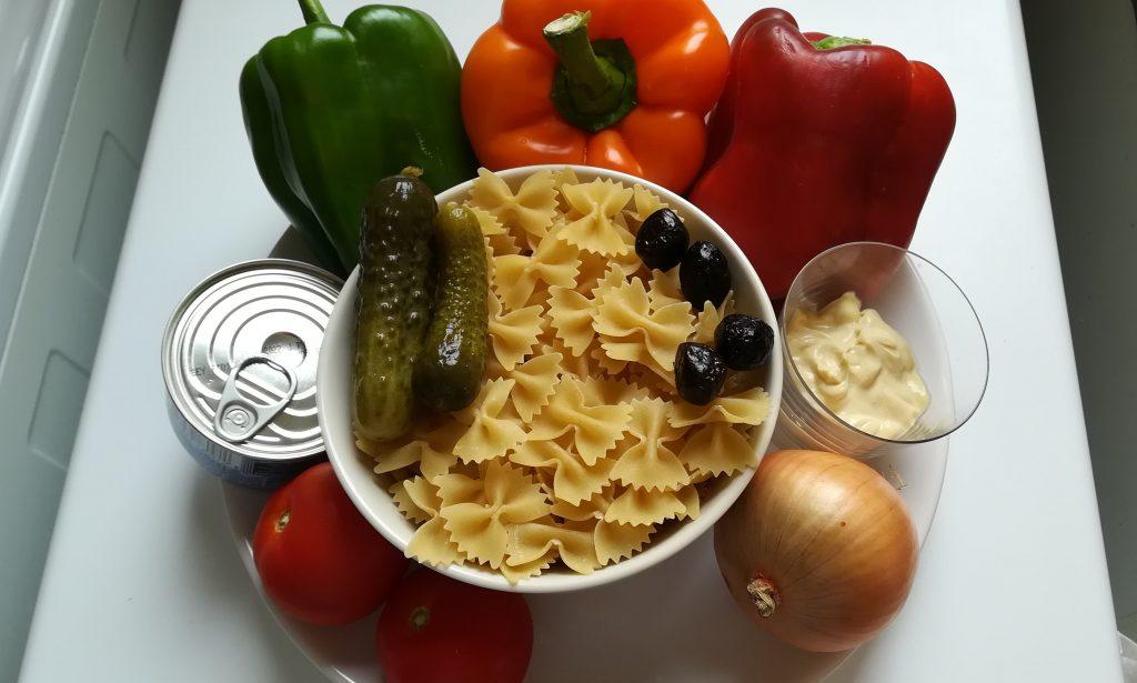 Ingrédients pour salade de pâtes au thon