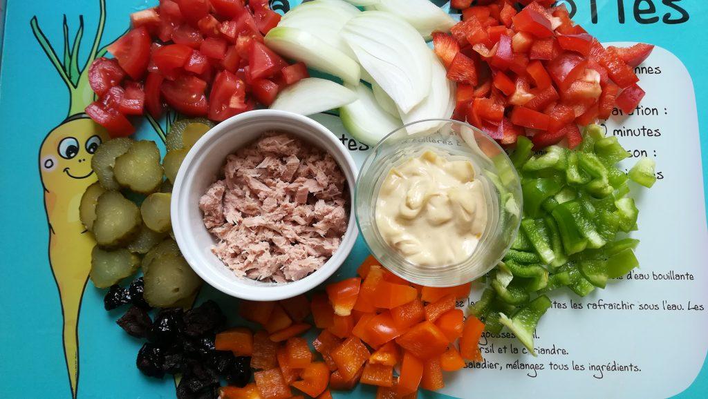 Recette de pâtes en salade