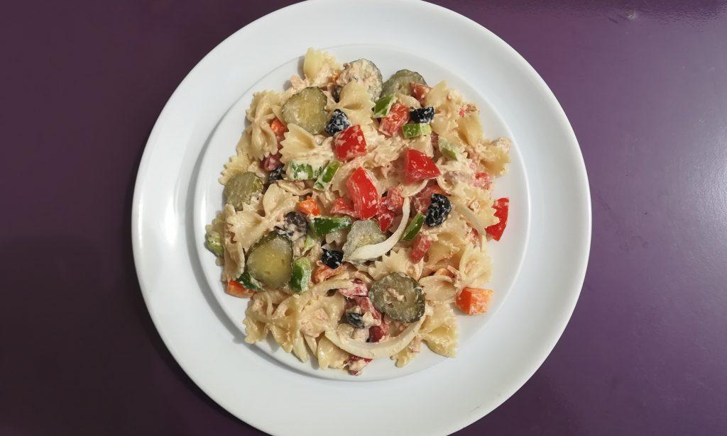 Salade de pâtes simple