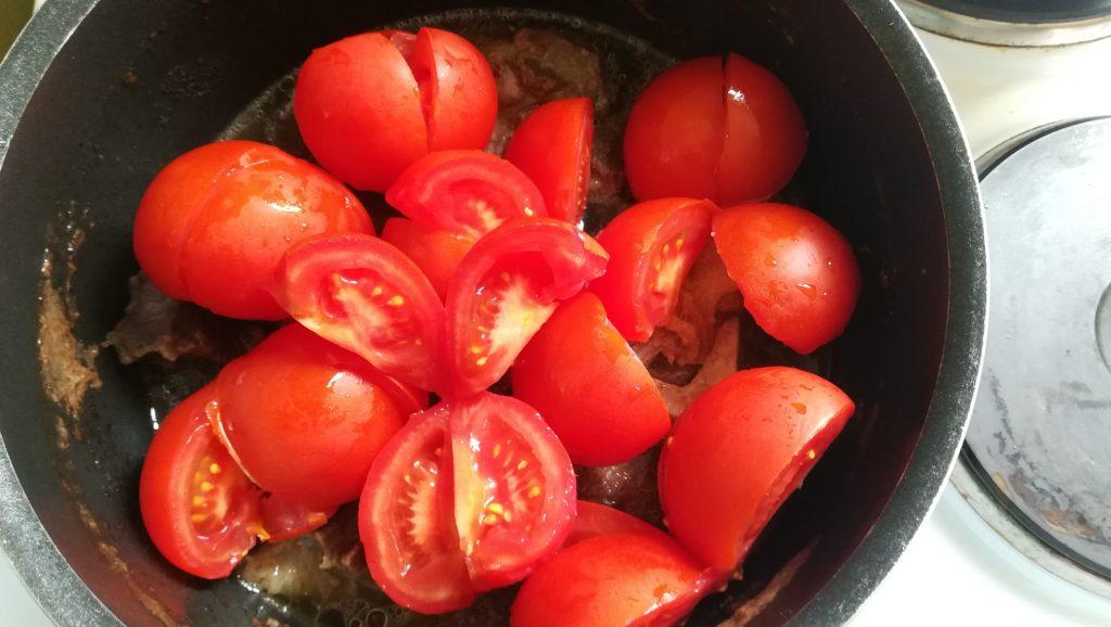Tomates et viande