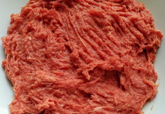 Viande hachée au mixeur