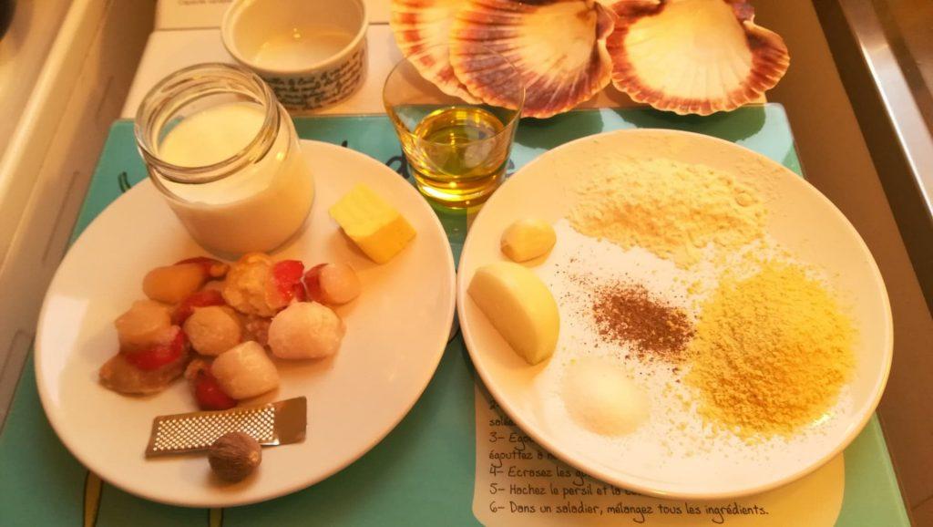 Ingrédients pour noix de saint-jacques