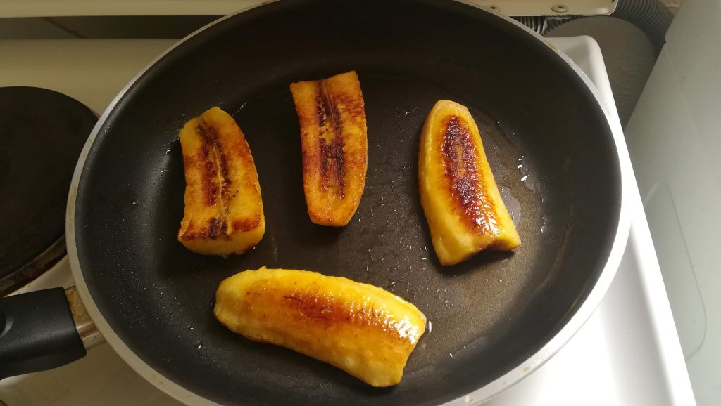 Bananes exotiques frites