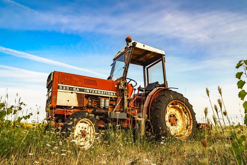 Tracteur pour agriculture locale