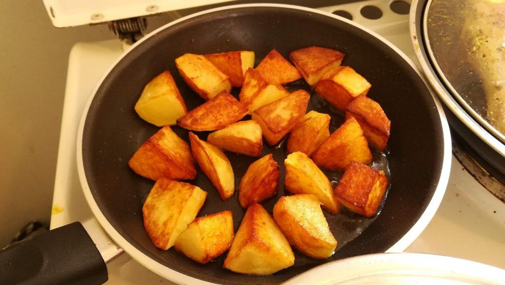 Pommes de terre rissolées pour choux de Bruxelles