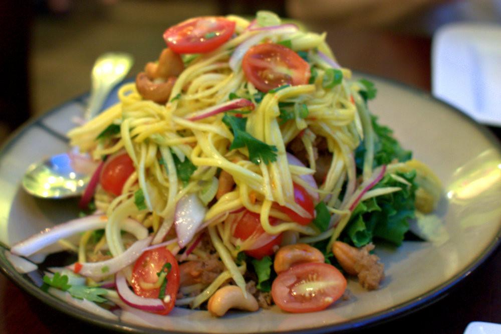 Salade de mangue verte