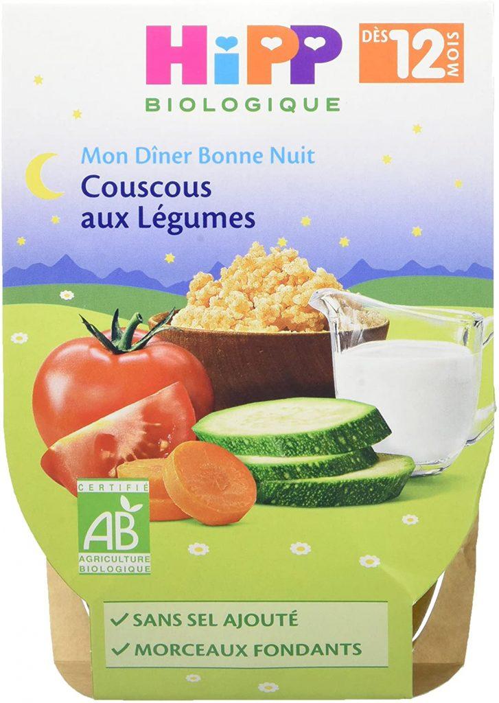 Couscous aux légumes pour bébé