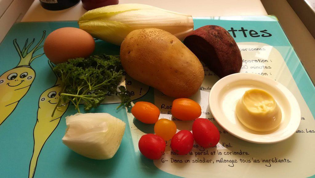 Endives aux pommes de terre