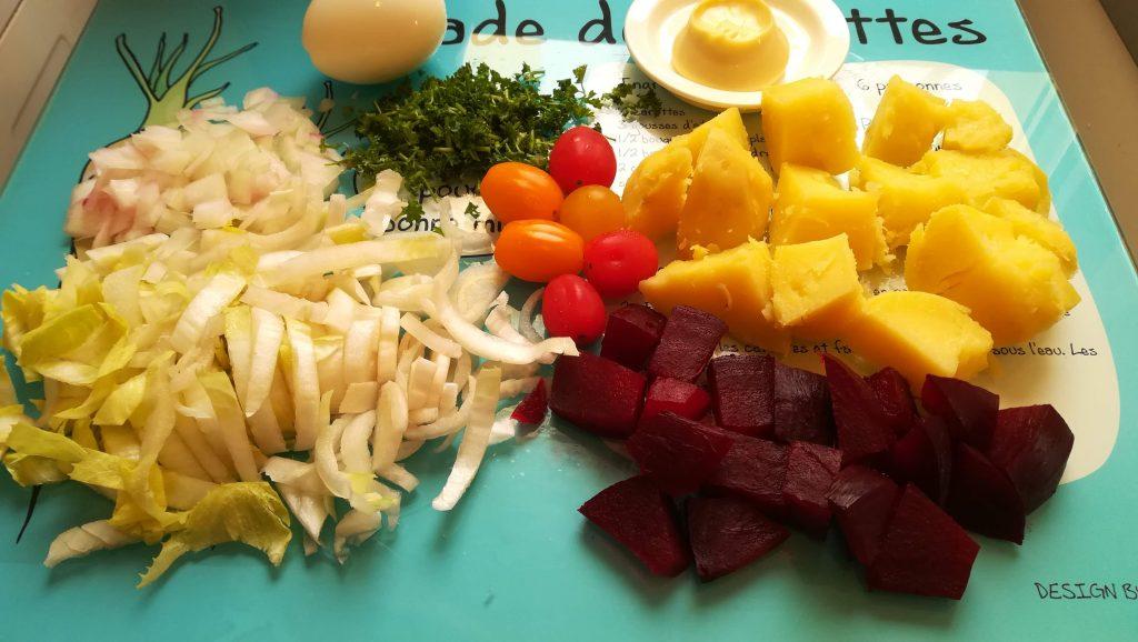 Salade composée aux endives